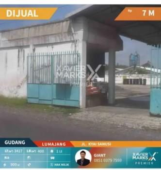 *dijual Gudang 40m Dari Jalan Provinsi Lumajang-jember #1