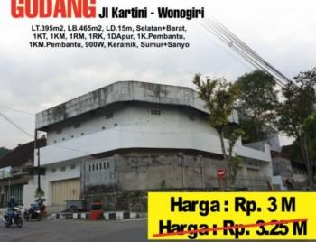 Turun Harga Dijual Gudang Pinggir Jalan Besar Kota Wonogiri #1