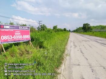 Dijual Tanah Luas 5,6 Ha Tepi Jln Tanjung Api-api, Banyuasin Palembang #1