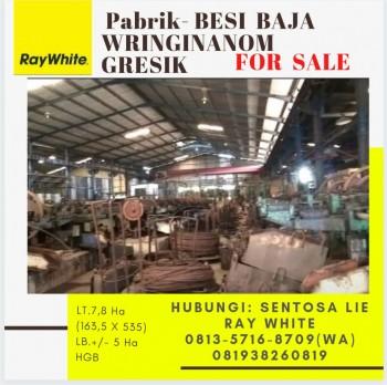 Dijual Pabrik Besi Baja Wringinanom Gresik Jawa Timur - Strategis Lokasi #1