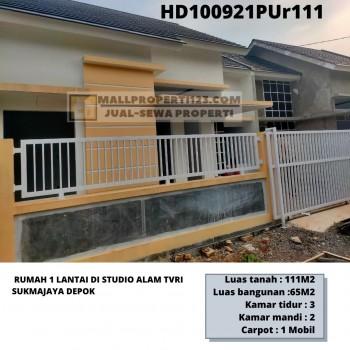 Rumah Cantik Baru 1lantai Dekat Studio Alam Tvri Depok #1