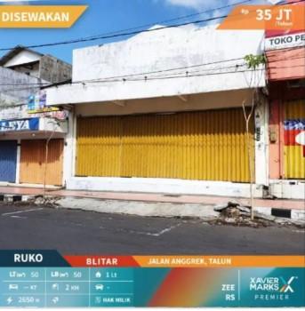 Disewakan Ruko Jalan Anggrek Talun Blitar #1