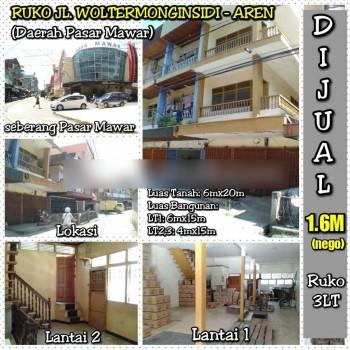 Ruko Hook Jl.woltermonginsidi (aren) Pusat Kota Pontianak, Pontianak Kota, Pontianak #1