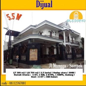 Dijual Rumah Bagus ( Tempat Tinggal + Kos2 An ), Lokasi Strategis, Siap Huni, Yg Berlokasi Di Area Mangga - Sompok Semarang #1
