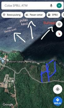 Dijual Cepat Lahan Loos Pantai Sabang Provinsi Aceh #1