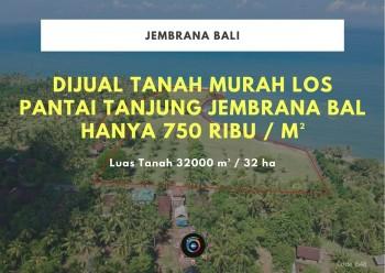 Dijual Tanah Murah Los Pantai Tanjung Jembrana Bali #1