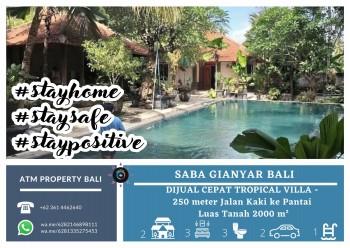 Dijual Cepat Tropical Villa Saba Gianyar Bali #1