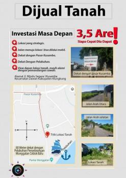 Dijual Tanah Murah Pinggir Jalan View Sawah Dan Dekat Ke Pantai Monggalan  Klungkung Bali #1