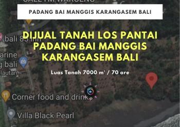 Dijual Tanah Los Pantai Padang Bai Manggis Karangasem Bali #1