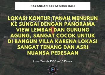 Dijual Tanah Murah Los Sungai & View Lembah Payangan Kerta Ubud Bali #1