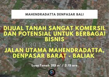 Dijual Tanah Komersil Mahendradatta Denpasar Bali #1