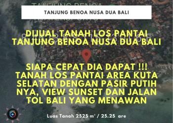 Dijual Tanah Los Pantai Tanjung Benoa Nusa Dua Bali #1
