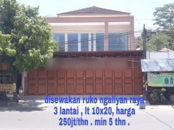 Disewakan Ruko 3 Lantai Di Ngaliyan, Semarang #1