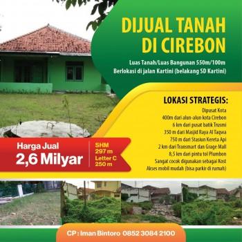 Dijual Tanah Beserta Bangunan Lokasi Strategis Pusat Kota,di Jalan Kartini , Kejaksan, Cirebon #1