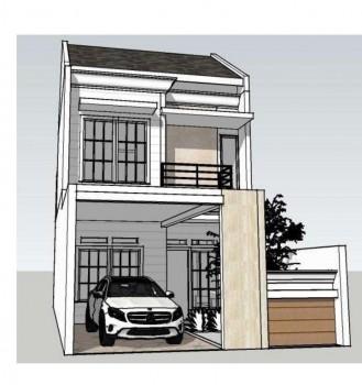 Dijual Rumah Kavling 2 Lantai Ada 2 Unit Indent 4-6 Bulan Lokasi Lingkungan Aman, Nyaman Di Rawamangun Jakarta Timur #1